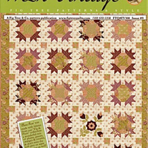 Quilting and Sewing Pattern Fig Tree & Co FRESH VINTAGE PLUM ROSE New