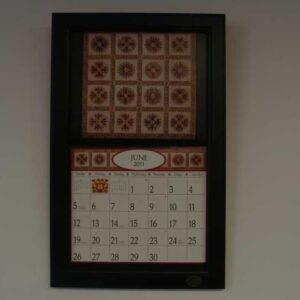 2014-Lang-Legacy-Calendar-Frame-Wooden-Painted-Black-New-Display-your-calender-161530703618