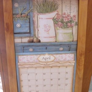 2015-Lang-Legacy-Calendar-PINE-FLIP-FRAME-Wooden-New-Display-your-calender-111550981898