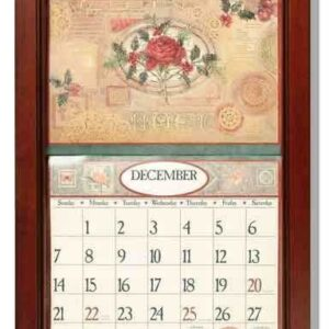 2017 lang legacy calendar frame wooden mahogany new display your calender