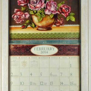 2016-Lang-Legacy-Calendar-Frame-Wooden-Painted-WHITE-New-Display-your-calender-161918902806