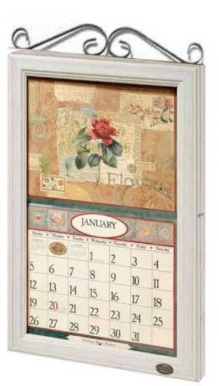 2017 lang legacy calendar frame wooden scroll white new display your calender