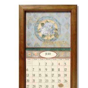 2016-Lang-Legacy-Calendar-Frame-Wooden-Teak-New-Display-your-calender-NEW-161801877507