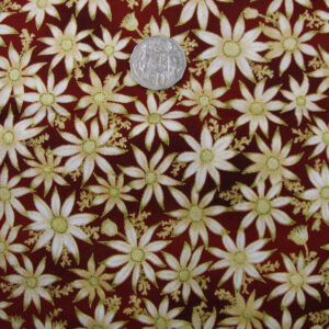 COUNTRY-CHIC-QUALITY-100-cotton-Quilting-fabric-flax-flowers-metallic-FQ-new-160786260678
