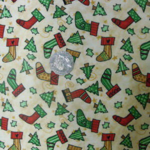 COUNTRY-FABRIC-FLANELETTE-XMAS-TREES-STOCKINGS-NEW-FQ-160508835365