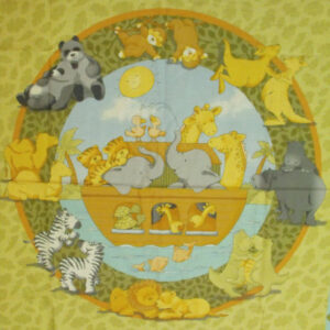 COUNTRY-FABRIC-KIDS-COT-QUILTWALL-DECOR-NOAHS-ARK-NEW-160483442979