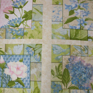 COUNTRY-HYDRANGEA-RADIANCE-FLORAL-QUILTING-FABRIC-PANEL-60-X-110CM-NEW-160680420427
