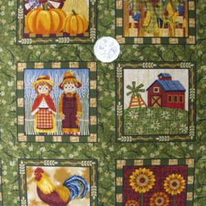 COUNTRY-QUALITY-100-cotton-Quilting-fabric-Harvest-Time-panel-NEW-60X110CM-160814290855