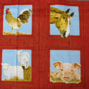COUNTRY-QUALITY-100-cotton-Quilting-fabric-Sunnybrook-Farm-animal-Panel-60x110-110889827837