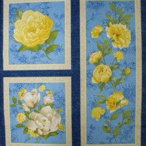 COUNTRY-QUALITY-100-cotton-Quilting-fabric-Yellow-Flower-panel-NEW-60X110cm-160814305077