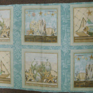COUNTRY-QUILTING-FABRIC-BEACH-THEMED-PANEL-NEW-60-X-110-110614006088