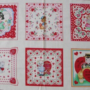 COUNTRY-QUILTING-FABRIC-Be-My-Valentine-Panel-60x110cm-New-111040329846