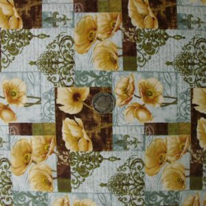 COUNTRY-QUILTING-FABRIC-Cream-Poppys-FQ-50x55cm-Newalso-per-m-161044838913