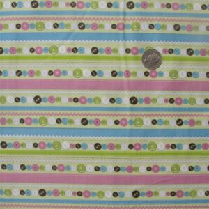 COUNTRY-QUILTING-FABRIC-Cute-as-a-Button-allover-fabric-green-FQ-50x55cm-160972942794