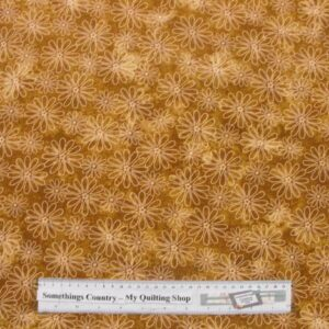 COUNTRY-QUILTING-FABRIC-Flower-Power-Brown-Floral-Fat-Quarter-50-x-55cm-New-161576671116