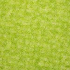COUNTRY-QUILTING-FABRIC-Flower-Power-Dk-Lime-Green-Floral-Fat-Quarter-50x55cm-161576666559