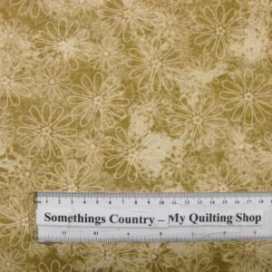COUNTRY-QUILTING-FABRIC-Flower-Power-Fawn-Floral-Fat-Quarter-50x55cm-161576670462