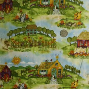 COUNTRY-QUILTING-FABRIC-Home-Sweet-Home-allover-FQ-50x55cm-New-also-per-m-161044826518