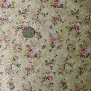 COUNTRY-QUILTING-FABRIC-Le-Roses-fawn-allover-Fat-Quarter-50x55cm-161144752460