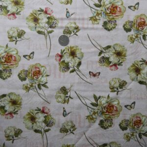 COUNTRY-QUILTING-FABRIC-Pink-French-Roses-France-Fat-Quarter-50x55cm-111241533723