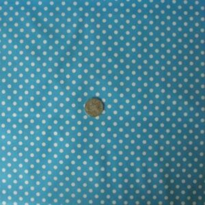 COUNTRY-QUILTING-FABRIC-Retro-Vintage-Polka-Dots-Blue-White-FQ-50x55cm-New-111943804826