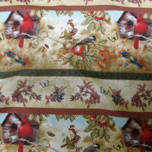 COUNTRY-QUILTING-FABRIC-SONGS-OF-SEASONS-BIRDS-BORDER-FABRIC-3-ROWS-60-X-110CM-160703619122