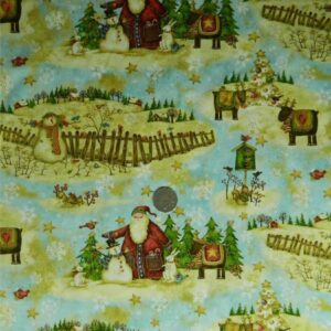 COUNTRY-QUILTING-FABRIC-Santas-Journal-by-Debi-Hron-Fat-Quarter-50x55cm-111805417453