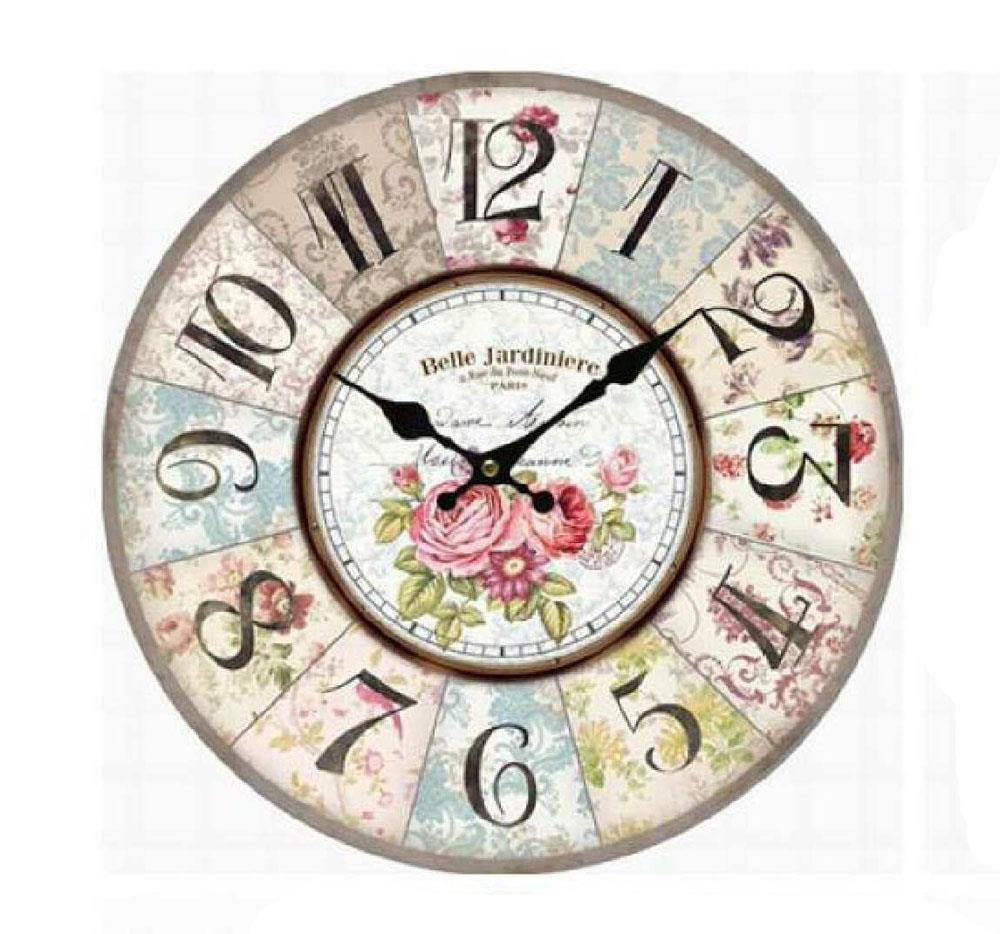 clock french country vintage inspired wall clocks 34cm