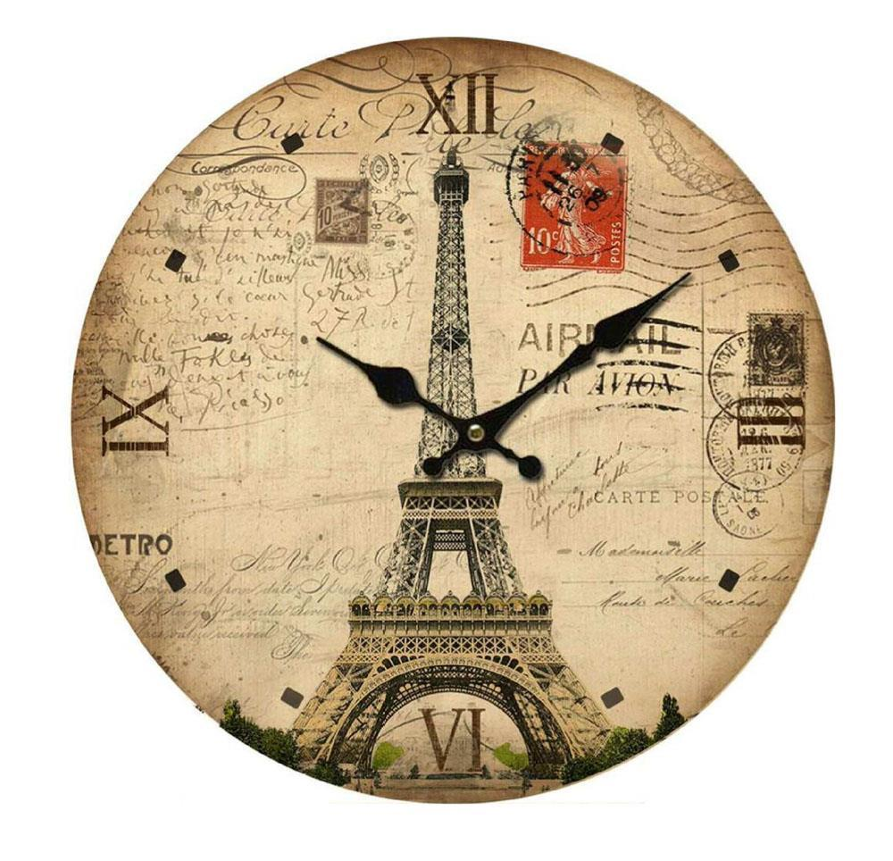 clock french country vintage inspired wall clocks eiffel