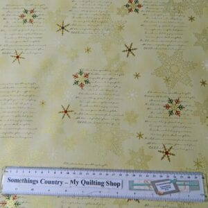 Country-Patchwork-Quilting-Christmas-Snowflake-Metallic-Sewing-50x-55-FQ-New-161770752221