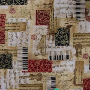 Country-Patchwork-Quilting-Cotton-Fabric-ALL-THAT-JAZZ-MUSIC-Sewing-50x55-FQ-NEW-161925045183