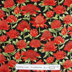 Country-Patchwork-Quilting-Fabric-Allover-Sewing-50x55cm-Waratah-Cotton-New-111748400571