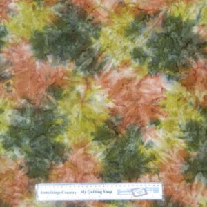 Country-Patchwork-Quilting-Fabric-BATIK-RUST-GREEN-Sewing-Cotton-50x55cm-FQ-NEW-111826953191