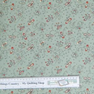 Country-Patchwork-Quilting-Fabric-Blue-Green-Daisy-Bugs-Cotton-Sewing-50x55cm-111616347815