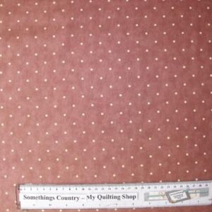 Country-Patchwork-Quilting-Fabric-Burgundy-Brown-Spots-Cotton-Sewing-50x55FQ-111674975549