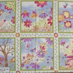 Patchwork Quilting Sewing Fabric FLORAL BUTTERFLY HOLLOW Panel 60x110cm New