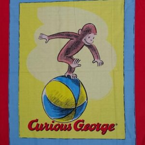Country-Patchwork-Quilting-Fabric-CURIOUS-GEORGE-MONKEY-Sewing-Panel-90x110-cm-111992350007