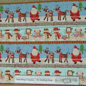 Country-Patchwork-Quilting-Fabric-Christmas-Bundle-Up-Xmas-Panel-40x110cm-Border-111749279845