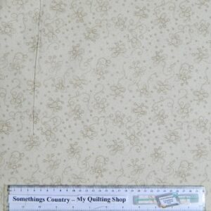 Country-Patchwork-Quilting-Fabric-Cream-Daisy-Doodle-Dots-Cotton-Sewing-50x55cm-161629181258