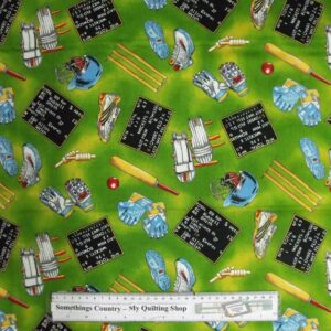 Country-Patchwork-Quilting-Fabric-Cricket-Stuff-Cotton-Sewing-50x55-FQ-New-111723793272