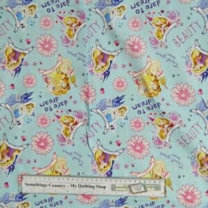 Quilting Patchwork Sewing Fabric DISNEY PRINCESSES CINDERELLA Material 50x55FQ New