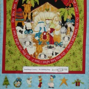 Country-Patchwork-Quilting-Fabric-Do-you-See-Advent-Xmas-Panel-60x110cm-New-161770363144