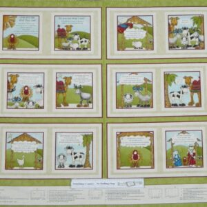 Country-Patchwork-Quilting-Fabric-Do-you-See-Book-Sewing-Panel-60x110cm-New-111723805105