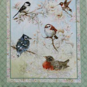 Country-Patchwork-Quilting-Fabric-GARDEN-MELODIES-BIRD-NEW-Sewing-Panel-60x110cm-111992219284