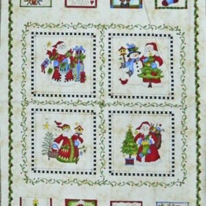Country-Patchwork-Quilting-Fabric-JUST-BE-CLAUS-CHRISTMAS-Sewing-Panel-60x110cm-162065902661