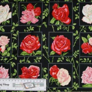 Country-Patchwork-Quilting-Fabric-Mixed-Roses-Garden-Panel-30-x-110cm-New-161799911388