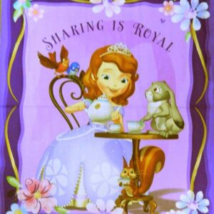 Country-Patchwork-Quilting-Fabric-PRINCESS-SOFIA-THE-FIRST-Sewing-Panel-90x110cm-112108312355