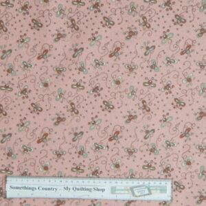 Country-Patchwork-Quilting-Fabric-Pink-Daisy-Doodle-Bugs-Cotton-Sewing-50x55cm-161629172225