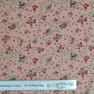 Country-Patchwork-Quilting-Fabric-Pink-Daisy-Doodle-Trail-Cotton-Sewing-50x55cm-111616350184
