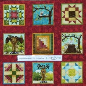 Country-Patchwork-Quilting-Fabric-Quilting-Wildlife-Animals-Panel-60x110cm-161709723229